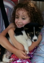Erin & puppy June 2013