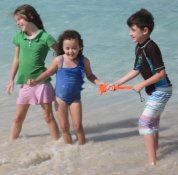 kids Virgin Gorda  beach