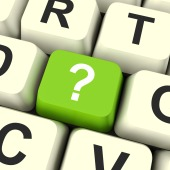 Question Mark Key Shows Doubt And Help