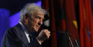 Elie Wisel, the heroic survivor of Auschwitz, is calling on Democrats to attend the Israeli Prime Minister's speech to Congress.