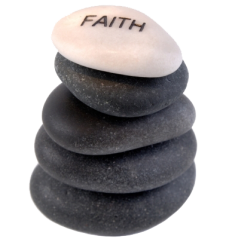 Faith rocks no background