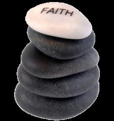 Faith rocks no background